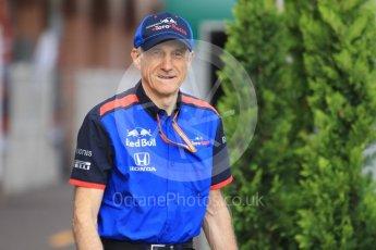 World © Octane Photographic Ltd. Formula 1 - Monaco GP - Paddock. Franz Tost – Team Principal of Scuderia Toro Rosso. Monte-Carlo. Sunday 27th May 2018.