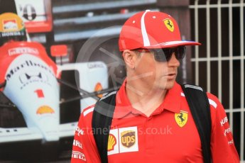 World © Octane Photographic Ltd. Formula 1 – Monaco GP - Paddock. Scuderia Ferrari SF71-H – Kimi Raikkonen. Monte-Carlo. Sunday 27th May 2018.