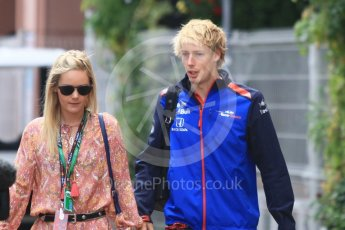 World © Octane Photographic Ltd. Formula 1 – Monaco GP - Paddock. Scuderia Toro Rosso STR13 – Brendon Hartley. Monte-Carlo. Sunday 27th May 2018.