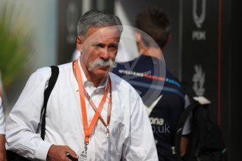 World © Octane Photographic Ltd. Formula 1 - Monaco GP - Paddock. Chase Carey - Chief Executive Officer of the Formula One Group. Monte-Carlo. Sunday 27th May 2018.