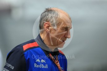 World © Octane Photographic Ltd. Formula 1 - Monaco GP - Paddock. Franz Tost – Team Principal of Scuderia Toro Rosso. Monte-Carlo. Thursday 24th May 2018.
