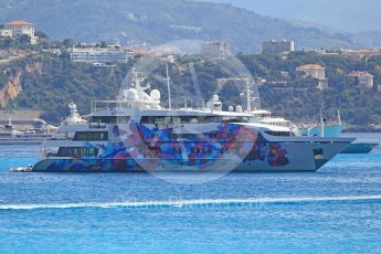 World © Octane Photographic Ltd. Formula 1 – Monaco GP - Setup. The larger yachts in the bay. Monte-Carlo. Wednesday 23rd May 2018.