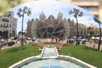 World © Octane Photographic Ltd. Formula 1 – Monaco GP - Setup. Reflection of the Casino. Monte-Carlo. Wednesday 23rd May 2018.