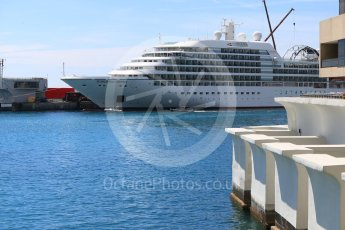 World © Octane Photographic Ltd. Formula 1 – Monaco GP - Setup. Seabourn Odyssey in harbour. Monte-Carlo. Wednesday 23rd May 2018.