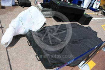 World © Octane Photographic Ltd. Formula 1 – Monaco GP - Setup. Williams Martini Racing FW41 new parts arrival. Monte-Carlo. Wednesday 23rd May 2018.
