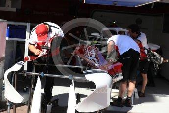 World © Octane Photographic Ltd. Formula 1 – Monaco GP - Setup. Alfa Romeo Sauber F1 Team C37. Monte-Carlo. Wednesday 23rd May 2018.