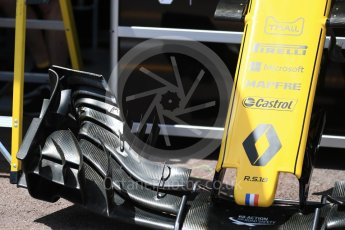 World © Octane Photographic Ltd. Formula 1 – Monaco GP - Setup. Renault Sport F1 Team RS18. Monte-Carlo. Wednesday 23rd May 2018.