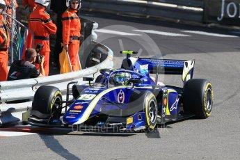 World © Octane Photographic Ltd. FIA Formula 2 (F2) – Monaco GP - Practice. Carlin - Lando Norris. Monte Carlo. Thursday 24th May 2018.