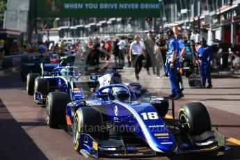 World © Octane Photographic Ltd. FIA Formula 2 (F2) – Monaco GP - Practice. Carlin - Sergio Sette Camara. Monte Carlo. Thursday 24th May 2018.