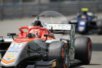 World © Octane Photographic Ltd. FIA Formula 2 (F2) – Monaco GP - Qualifying. Campos Vexatec Racing - Luca Ghiotto and Russian Time - Tadasuke Makino. Monte Carlo. Thursday 24th May 2018.