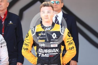 World © Octane Photographic Ltd. FIA Formula 2 (F2) – Monaco GP - Race 1 - Poduim. Russian Time - Artem Markelov. Monte Carlo. Friday 25th May 2018