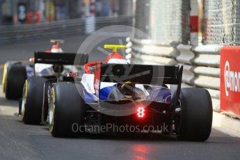 World © Octane Photographic Ltd. FIA Formula 2 (F2) – Monaco GP - Race 2. Trident - Arjun Maini and Santino Ferrucci. Monte Carlo. Saturday 26th May 2018.