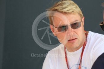 World © Octane Photographic Ltd. Formula 1 – Monaco GP - Paddock. Mika Hakkinen. Monte-Carlo. Saturday 26th May 2018.