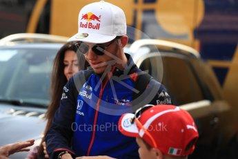 World © Octane Photographic Ltd. Formula 1 – Monaco GP - Paddock. Scuderia Toro Rosso STR13 – Pierre Gasly. Monte-Carlo. Saturday 26th May 2018.