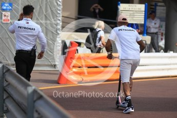 World © Octane Photographic Ltd. Formula 1 – Monaco GP - Paddock. Mercedes AMG Petronas Motorsport AMG F1 W09 EQ Power+ - Lewis Hamilton. Monte-Carlo. Saturday 26th May 2018.