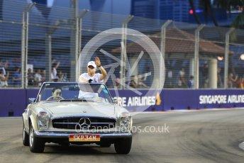 World © Octane Photographic Ltd. Formula 1 – Singapore GP - Drivers Parade. Mercedes AMG Petronas Motorsport AMG F1 W09 EQ Power+ - Valtteri Bottas. Marina Bay Street Circuit, Singapore. Sunday 16th September 2018.
