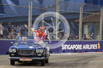 World © Octane Photographic Ltd. Formula 1 – Singapore GP - Drivers Parade. Scuderia Ferrari SF71-H – Kimi Raikkonen. Marina Bay Street Circuit, Singapore. Sunday 16th September 2018.