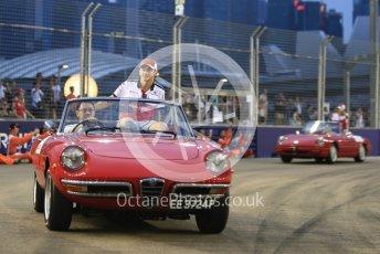 World © Octane Photographic Ltd. Formula 1 – Singapore GP - Drivers Parade. Alfa Romeo Sauber F1 Team C37 – Charles Leclerc. Marina Bay Street Circuit, Singapore. Sunday 16th September 2018.