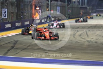 World © Octane Photographic Ltd. Formula 1 – Singapore GP - Race. Scuderia Ferrari SF71-H – Kimi Raikkonen. Marina Bay Street Circuit, Singapore. Sunday 16th September 2018.