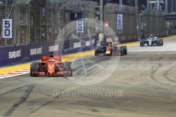 World © Octane Photographic Ltd. Formula 1 – Singapore GP - Race. Scuderia Ferrari SF71-H – Sebastian Vettel. Marina Bay Street Circuit, Singapore. Sunday 16th September 2018.
