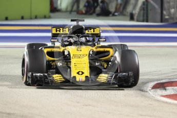 World © Octane Photographic Ltd. Formula 1 – Singapore GP - Race. Renault Sport F1 Team RS18 – Nico Hulkenberg. Marina Bay Street Circuit, Singapore. Sunday 16th September 2018.