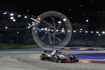 World © Octane Photographic Ltd. Formula 1 – Singapore GP - Race. Haas F1 Team VF-18 – Romain Grosjean. Marina Bay Street Circuit, Singapore. Sunday 16th September 2018.