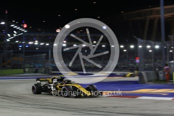 World © Octane Photographic Ltd. Formula 1 – Singapore GP - Race. Renault Sport F1 Team RS18 – Carlos Sainz. Marina Bay Street Circuit, Singapore. Sunday 16th September 2018.
