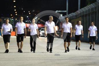 World © Octane Photographic Ltd. Formula 1 – Singapore GP - Track Walk. McLaren MCL33 – Stoffel Vandoorne. Marina Bay Street Circuit, Singapore. Thursday 13th September 2018.