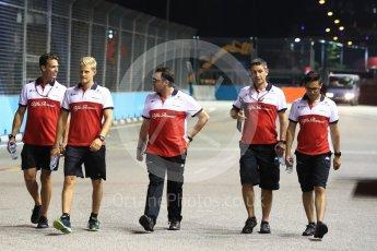 World © Octane Photographic Ltd. Formula 1 – Singapore GP - Track Walk. Alfa Romeo Sauber F1 Team C37 – Marcus Ericsson. Marina Bay Street Circuit, Singapore. Thursday 13th September 2018.