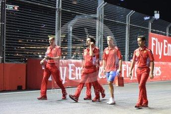 World © Octane Photographic Ltd. Formula 1 – Singapore GP - Track Walk. Scuderia Ferrari SF71-H – Sebastian Vettel. Marina Bay Street Circuit, Singapore. Thursday 13th September 2018.