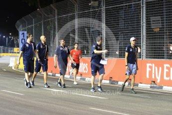World © Octane Photographic Ltd. Formula 1 – Singapore GP - Track Walk. Racing Point Force India VJM11 - Esteban Ocon. Marina Bay Street Circuit, Singapore. Thursday 13th September 2018.
