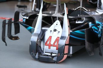 World © Octane Photographic Ltd. Formula 1 – Singapore GP - Thursday Pit Lane. Mercedes AMG Petronas Motorsport AMG F1 W09 EQ Power+ - Lewis Hamilton. Marina Bay Street Circuit, Singapore. Thursday 13th September 2018.