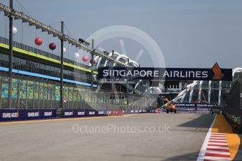 World © Octane Photographic Ltd. Formula 1 – Singapore GP - Thursday Pit Lane. Start Straight. Marina Bay Street Circuit, Singapore. Thursday 13th September 2018.