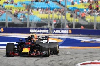 World © Octane Photographic Ltd. Formula 1 – Singapore GP - Practice 1. Aston Martin Red Bull Racing TAG Heuer RB14 – Daniel Ricciardo. Marina Bay Street Circuit, Singapore. Friday 14th September 2018.