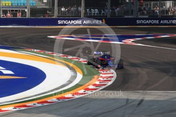 World © Octane Photographic Ltd. Formula 1 – Singapore GP - Practice 1. Scuderia Toro Rosso STR13 – Brendon Hartley. Marina Bay Street Circuit, Singapore. Friday 14th September 2018.