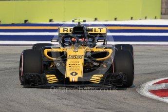 World © Octane Photographic Ltd. Formula 1 – Singapore GP - Practice 1. Renault Sport F1 Team RS18 – Carlos Sainz. Marina Bay Street Circuit, Singapore. Friday 14th September 2018.