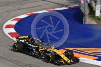 World © Octane Photographic Ltd. Formula 1 – Singapore GP - Practice 1. Renault Sport F1 Team RS18 – Nico Hulkenberg. Marina Bay Street Circuit, Singapore. Friday 14th September 2018.