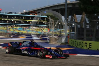 World © Octane Photographic Ltd. Formula 1 – Singapore GP - Practice 1. Scuderia Toro Rosso STR13 – Brendon Hartley. Marina Bay Street Circuit, Singapore. Friday 14th September 2018.