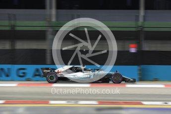 World © Octane Photographic Ltd. Formula 1 – Singapore GP – Practice 2. Mercedes AMG Petronas Motorsport AMG F1 W09 EQ Power+ - Lewis Hamilton. Marina Bay Street Circuit, Singapore. Friday 14th September 2018.