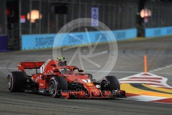 World © Octane Photographic Ltd. Formula 1 – Singapore GP - Practice 2. Scuderia Ferrari SF71-H – Kimi Raikkonen. Marina Bay Street Circuit, Singapore. Friday 14th September 2018.
