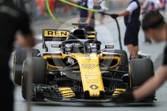 World © Octane Photographic Ltd. Formula 1 – Singapore GP - Practice 3. Renault Sport F1 Team RS18 – Nico Hulkenberg. Marina Bay Street Circuit, Singapore. Saturday 15th September 2018.