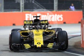 World © Octane Photographic Ltd. Formula 1 – Singapore GP - Qualifying. Renault Sport F1 Team RS18 – Nico Hulkenberg. Marina Bay Street Circuit, Singapore. Saturday 15th September 2018.