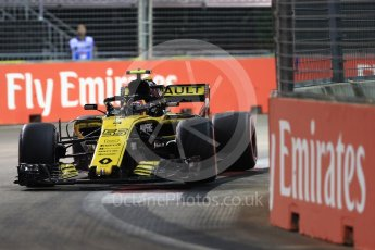 World © Octane Photographic Ltd. Formula 1 – Singapore GP - Qualifying. Renault Sport F1 Team RS18 – Carlos Sainz. Marina Bay Street Circuit, Singapore. Saturday 15th September 2018.