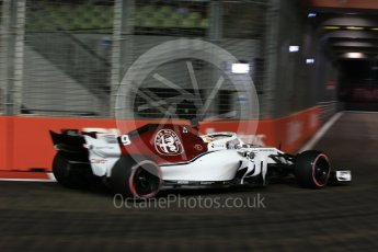 World © Octane Photographic Ltd. Formula 1 – Singapore GP - Qualifying. Alfa Romeo Sauber F1 Team C37 – Marcus Ericsson. Marina Bay Street Circuit, Singapore. Saturday 15th September 2018.