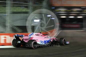 World © Octane Photographic Ltd. Formula 1 – Singapore GP - Qualifying. Racing Point Force India VJM11 - Esteban Ocon. Marina Bay Street Circuit, Singapore. Saturday 15th September 2018.