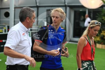 World © Octane Photographic Ltd. Formula 1 – Singapore GP - Paddock. Scuderia Toro Rosso STR13 – Brendon Hartley. Marina Bay Street Circuit, Singapore. Sunday 16th September 2018.