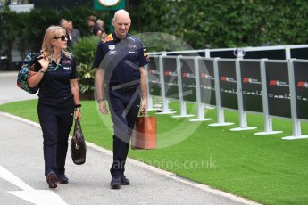 World © Octane Photographic Ltd. Formula 1 - Singapore GP - Paddock. Adrian Newey - Chief Technical Officer of Red Bull Racing. Marina Bay Street Circuit, Singapore. Sunday 16th September 2018.