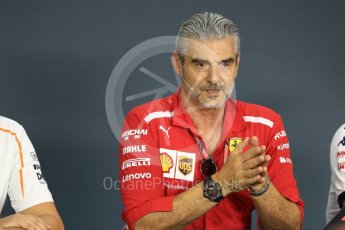 World © Octane Photographic Ltd. Formula 1 - Singapore GP – Friday FIA Team Press Conference. Maurizio Arrivabene – Managing Director and Team Principal of Scuderia Ferrari. Marina Bay Street Circuit, Singapore. Friday 14th September 2018.