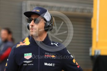 World © Octane Photographic Ltd. Formula 1 – Spanish GP - Drivers' Parade. Aston Martin Red Bull Racing TAG Heuer RB14 – Daniel Ricciardo. Circuit de Barcelona-Catalunya, Spain. Sunday 13th May 2018.