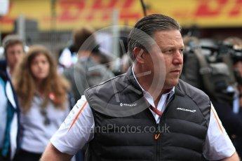 World © Octane Photographic Ltd. Formula 1 - Spanish GP - Grid. Zak Brown - Executive Director of McLaren Technology Group.  Circuit de Barcelona-Catalunya, Spain. Sunday 13th May 2018.